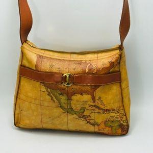 Alviero Martini Classe Geo Map Shoulder Bag